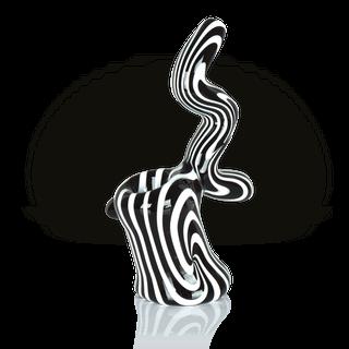 G-SPOT - Glass Bubbler Schwarz/Weisse