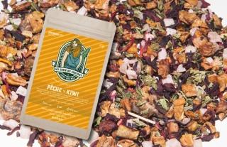 Pfirsich / Kiwi CBD-Blüten Tee